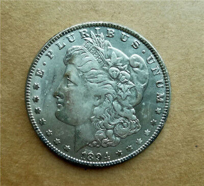 1pc Collection Copper Coin 1894s Antique Silver Plated Coin 28g, Dia. 1.46inches