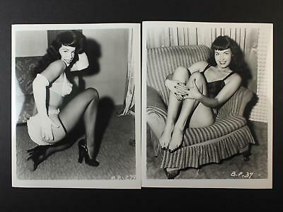 LOT: 48 CONTEMPORARY PHOTOGRAPHS of PIN-UP legend BETTIE PAGE~