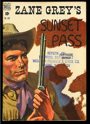 Four Color #230 (Zane Grey's Sunset Pass) Very Nice Dell File Copy 1949 FN-VF