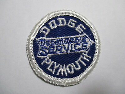 Old original Dodge Plymouth Dependable Service Patch