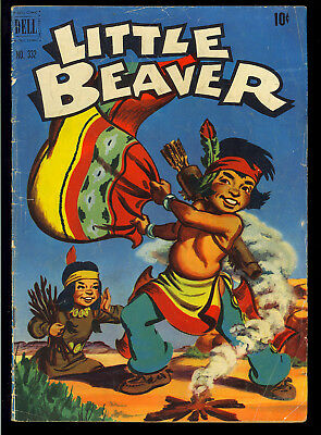 Four Color #332 (Little Beaver) Nice Golden Age Dell Comic 1951 GD-VG
