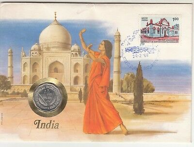 1988 India Presentation Pack With World Food Day Coin And Martha Hospital Fdc