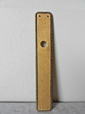 Vintage FRENCH Bronze Beaded Backplate PUSH PLATE