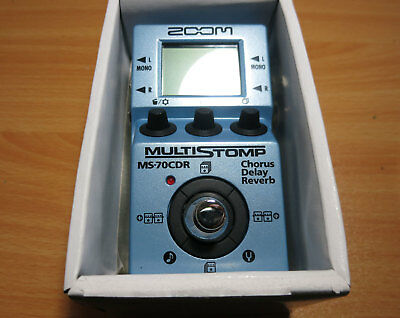 ZOOM MS-70CDR REVERB DELAY CHORUS Effect Pedal