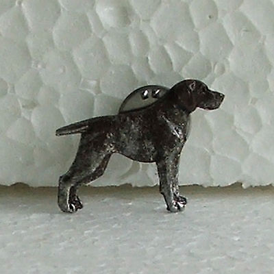 German Shorthaired Pointer Liver White Lapel Pin Dog Breed Jewellery Handpainted