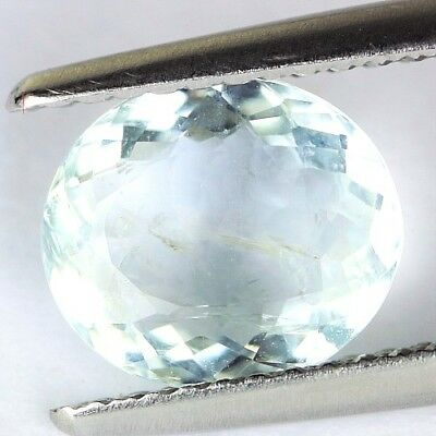 #*1.59 cts. 8.8 x 7.7 mm. UNHEATED NATURAL BLUE AQUAMARINE OVAL BRAZIL