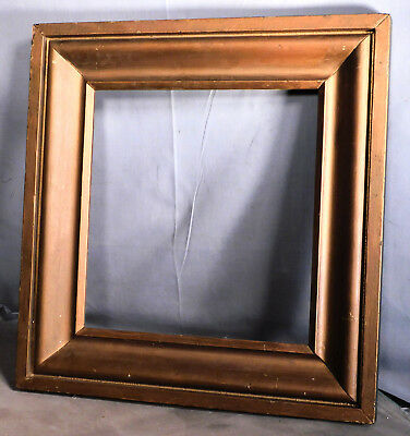 Antique Period Country Empire Gilt Wood OGEE Picture Frame 11x11 Square Mirror