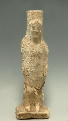 Greek Terracotta Statuette Of Goddess Kore (L849)