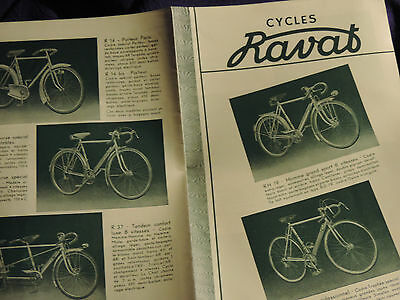 RARE CATALOGUE CYCLES RAVAT SAINT ETIENNE  4 pages
