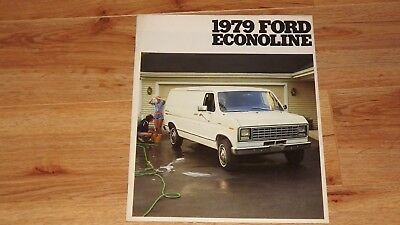 "1979 ""original"" Ford Econoline  Van Dealership Sales Brochure"