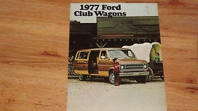 "1977 ""original"" Ford Club Wagon  Van Dealership Sales Brochure"