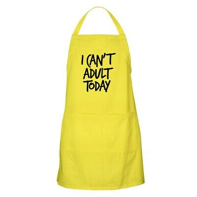 CafePress - I Can't Adult Today - Full Length Cooking Apron