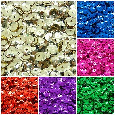 1000 Pcs Darice Round Cup Sequins 7mm Pinflair Sequin Loose Sewing Embellishment