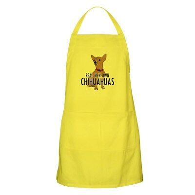 CafePress - Real Men Own Chihuahuas - Full Length Cooking Apron