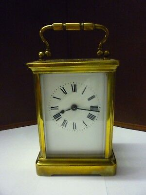 Antique Brass 8 Day Carriage Clock In Good Working Order (3)