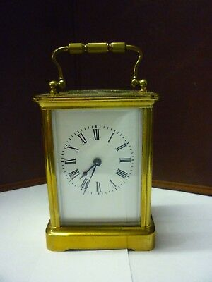 Antique Brass 8 Day Carriage Clock In Good Working Order (4)