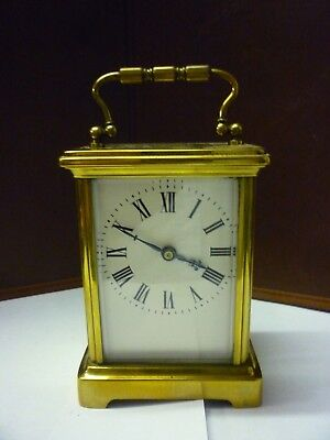 Antique Brass 8 Day Carriage Clock In Good Working Order (5)