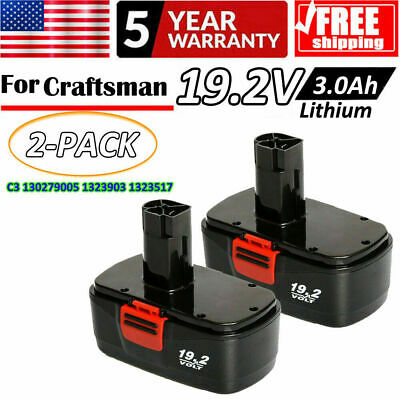 3.0Ah for Craftsman 19.2V Lithium Battery Replace C3 Battery XCP 315.115410 2pcs