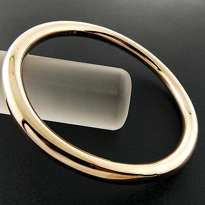 Fsa796 Genuine Real 18K Rose G/f Gold Ladies Heavy Solid Cuff Bangle Bracelet