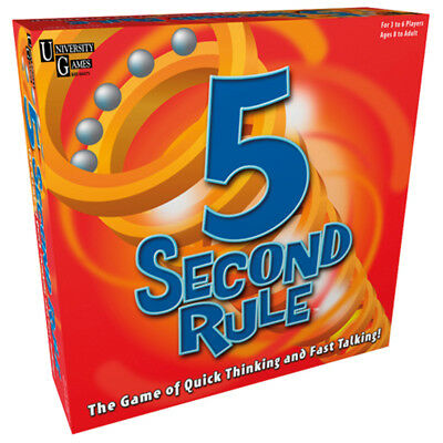 University Games 5 Second Rule Game NEW