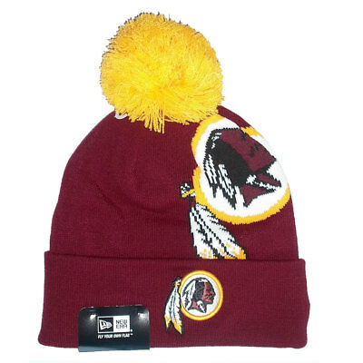b851019ec3a ... where to buy washington redskins officially licenced nfl new era logo knit  hat 97aad f996f