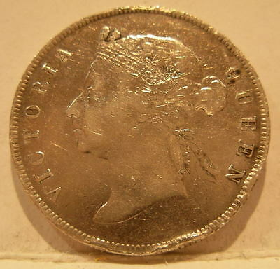 British Honduras 1894 Silver 50 Cents Circulated with some rim dings
