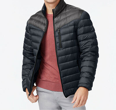 ba859b2ba INC International Concepts Navy Color-Block Quilted Down Puffer Jacket  Packable