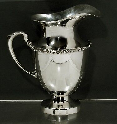 Mexican Sterling Silver Pitcher            c1960 Signed Juventino Lopez Reyes