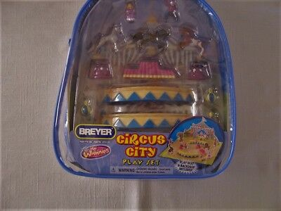 Breyer Mini Whinnies CIRCUS CITY Play set Backpack 2008 MIB Never Opened