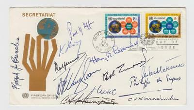 Cover signed by 12 UN luminaries, incl. Ralph Bunche