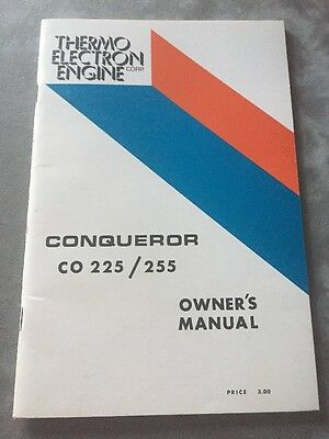 Thermo Electron Marine Engine Conqueror CO 225/255 Owners Manual~Ford 302-351