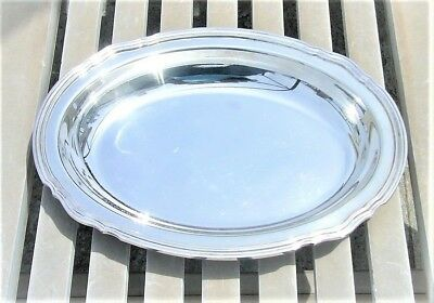 """Vintage Christofle Coll. Gallia Silver Plated Oval Serving Platter 11.8"""" X 9.1"""""""