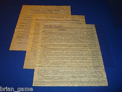Constitution, Declaration, Bill of Rights* 3  Freedom Documents, 6 Pages