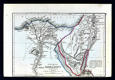1871 Classical Map - Ancient Egypt  Memphis Alexandria Great Pyramids Heliopolis