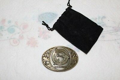 1994 Limited Edition Bronze Belt Buckle John Deere Parts Expo 2814 of 7000 Mint