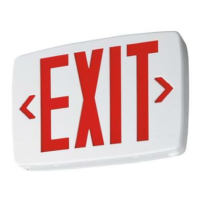 Lithonia Lighting White Red  LED Exit Emergency Sign  LQM S W 3 R 120/277 M6