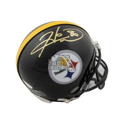 ee9e91f62 Hines Ward Autographed Pittsburgh Steelers Mini Football Helmet - JSA COA