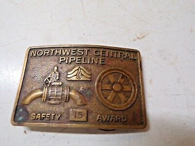 Old Brass Belt Buckle Northwest Central Pipeline Safety Award