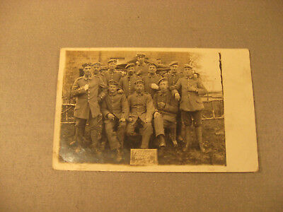 Feldzug 1914 Privatpostkarte Soldatengruppe,Uniform -Antic Soldier 1.WK