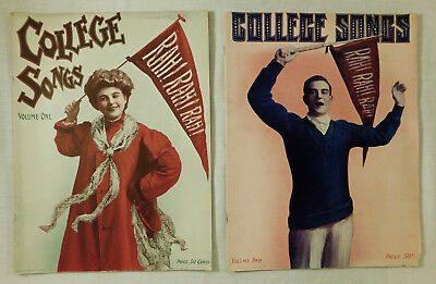 Two Big Antique Vtg College Song Books with Wonderful Covers! c.1910s - 20s