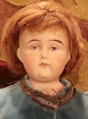 """Antique 12"""" German Bisque Closed Mouth Kling 152 Fashion Doll"""