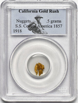 California Gold Rush S.S. Central America Gold Nuggets, .5 grams, PCGS Certified