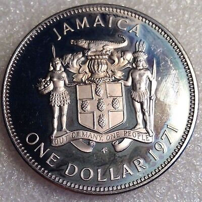 Jamaica 1 Dollar 1971 Huge PROOF Coin