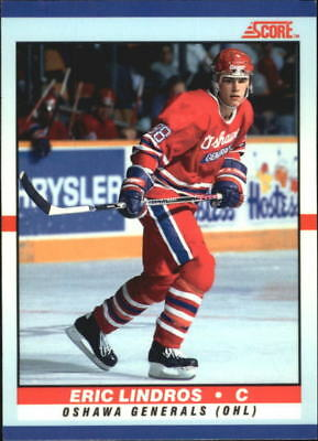 1990-91 Score Young Superstars Flyers Hockey Card #40 Eric Lindros