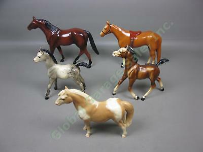 5 Vtg 1960s Horse Lot Breyer Molding Co Traditional Classic + 2 Others Hartland