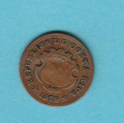 1929 Republica De costa Rica 5 centimes, inv#9942