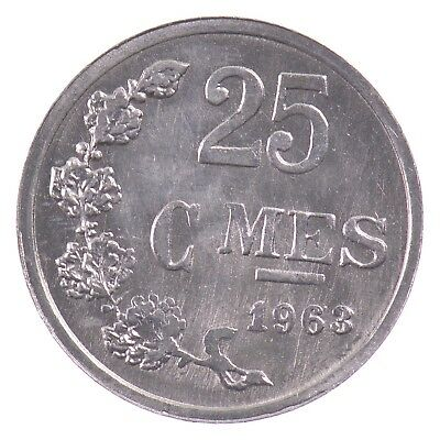 1963 Luxembourg 25 Centimes *034