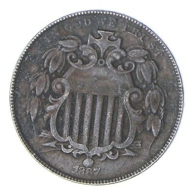 First US Nickel - 1867 Shield Nickel - US Type Coin - Over 100 Years Old! *471