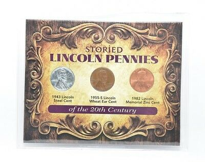 United States Coinage Historic Lincoln Pennies of The 20th Century Set