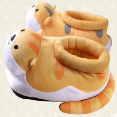 Neko Atsume Shoe Slipper Plush Kitty Collector Cat Anime Stuff Game Toy NASH1234